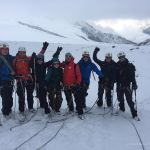 Mont Blanc training at the Glacier du Tour near AlbertI hut