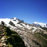 Hike towards AlbertI hut Chamonix Mont Blanc