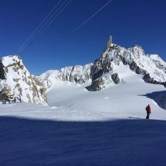 Vallée Blanche from Italy