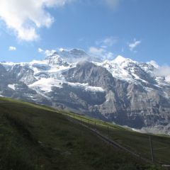 Guided glacier trek Swiss Alps Aletsch Eiger Valais