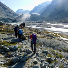 Otemma glacier approach