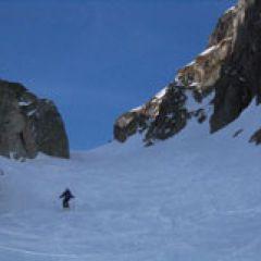 Couloir skiing Engelberg