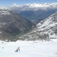 spring snow skitouring Simplon