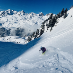 Piste to powder IFMGA guided freeride clinic Chamonix