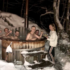 hottub in snow