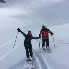 backcountry skiing Tour du Mont Blanc