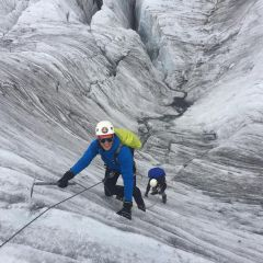 Cramponing training for Mont Blanc climb