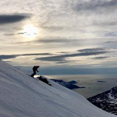Sunset skitouring Troms North Norway